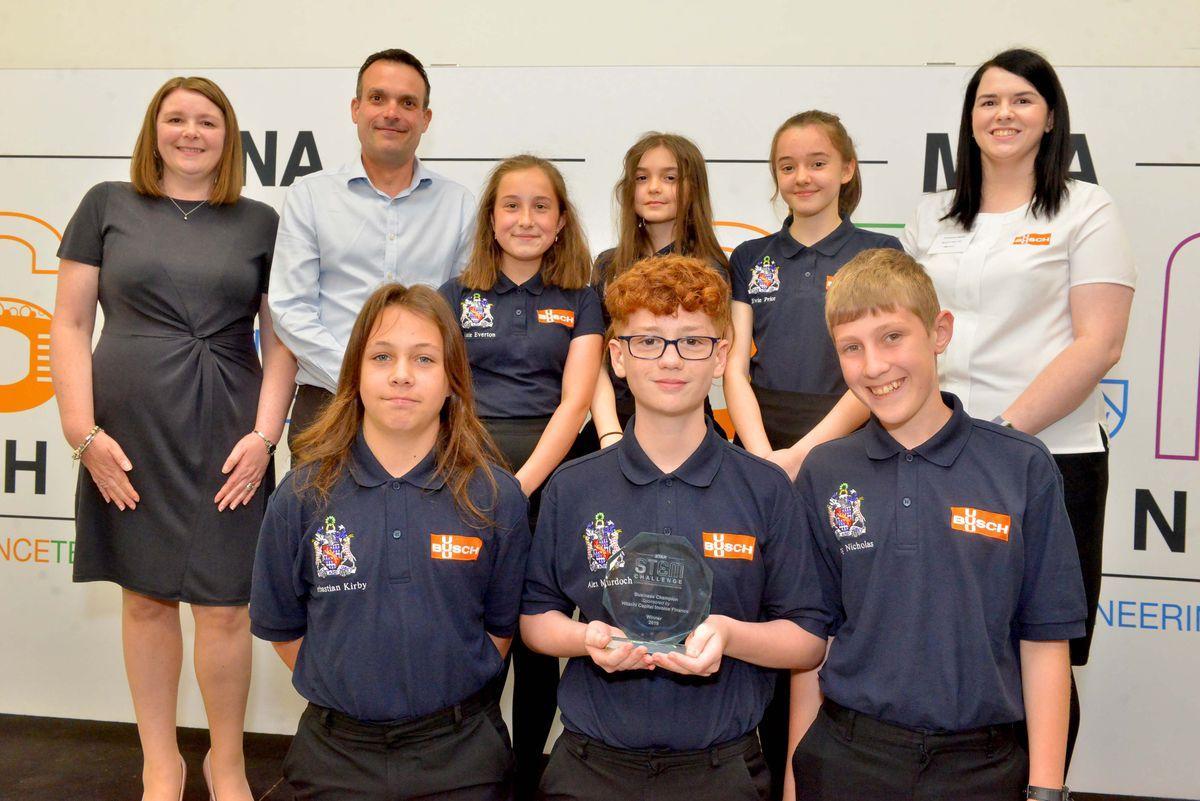 Business Champion award for Haberdashers Abraham Darby School