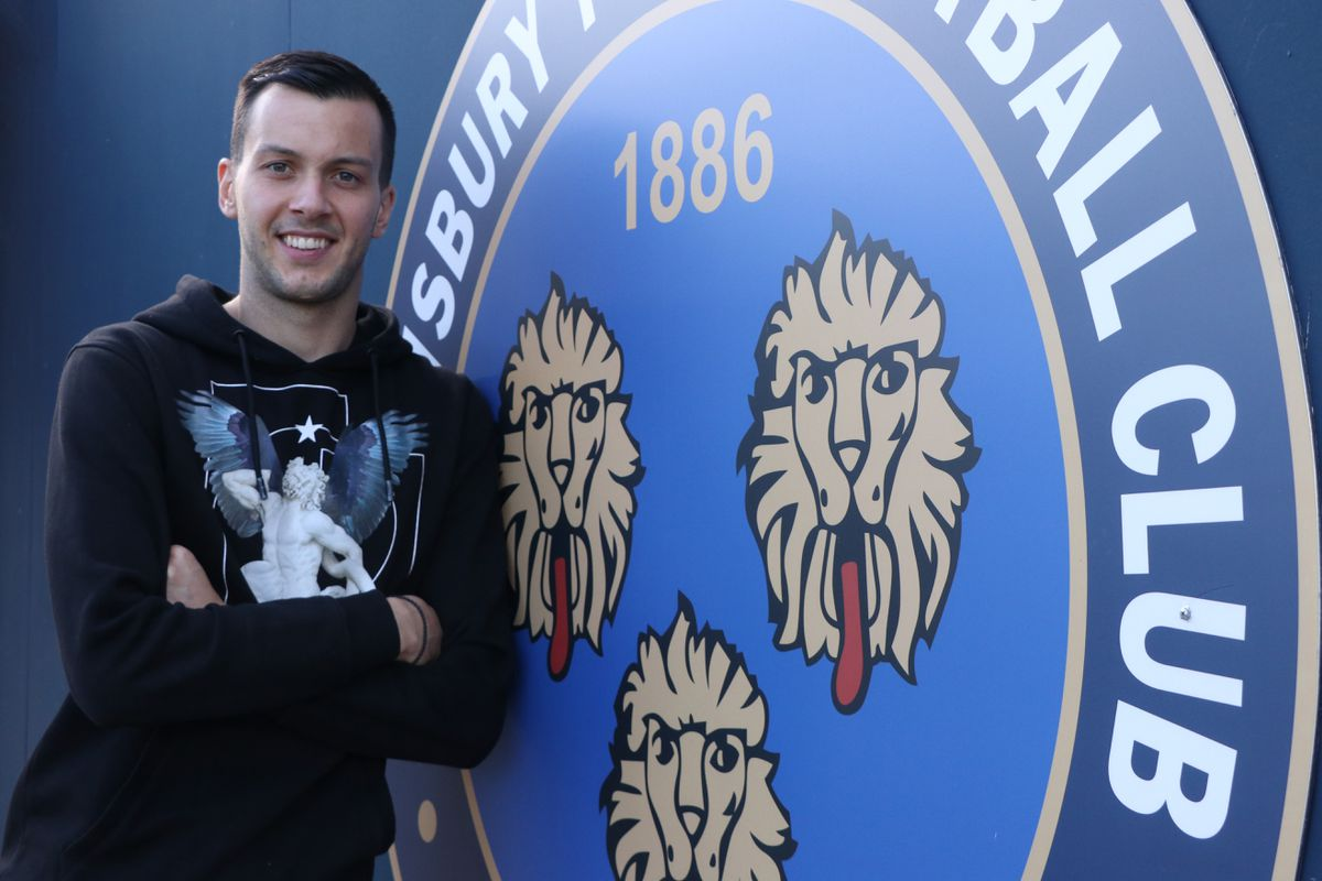 Shrewsbury Town have loaned Arsenal goalkeeper Deyan Iliev as cover for the injured Matija Sarkic Pic: STFC