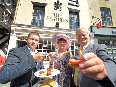 Feathers Hotel doors open again after tragedy