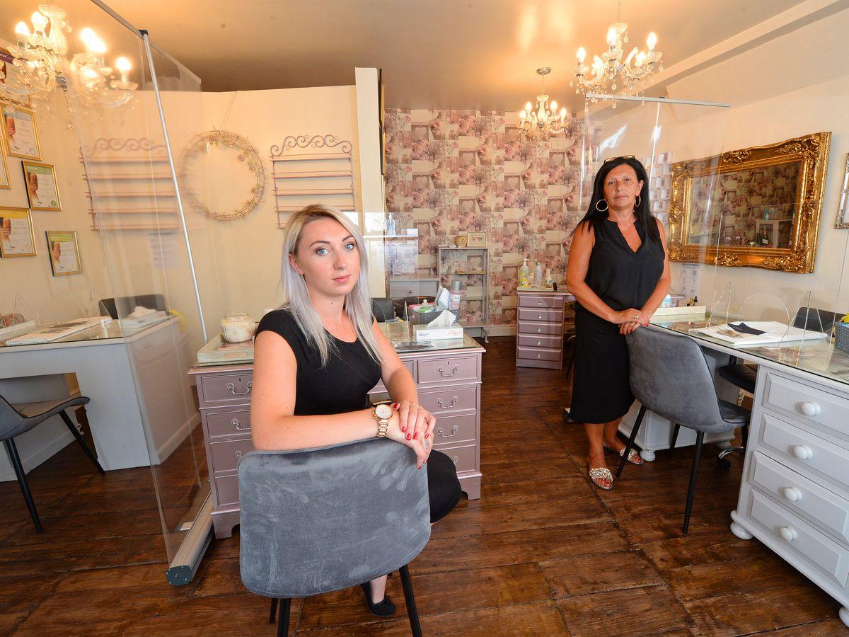 Terri Horton and mum Kim Horton, who is also Terri's business partner, at Beauty Boutique in Shrewsbury