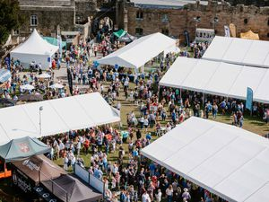 Ludlow Food Festival 2019 at Ludlow Castle in its 25th year