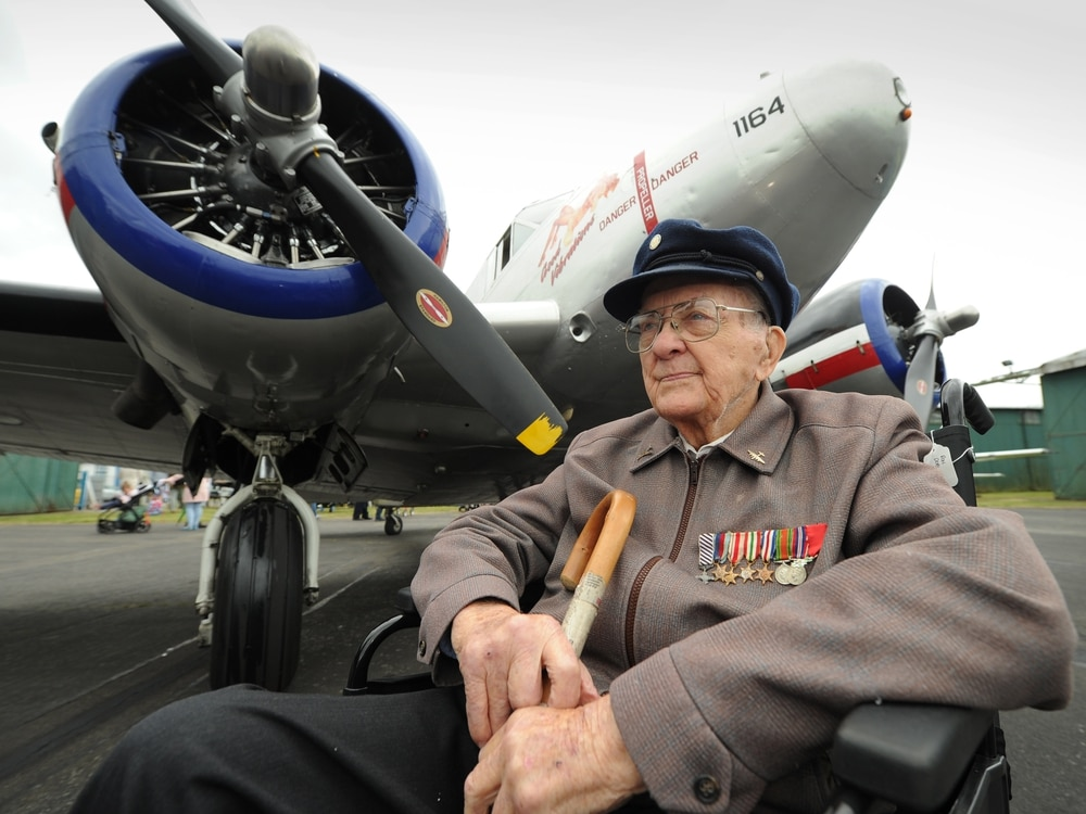 Second World War veterans reunite at airfield - in video and pictures