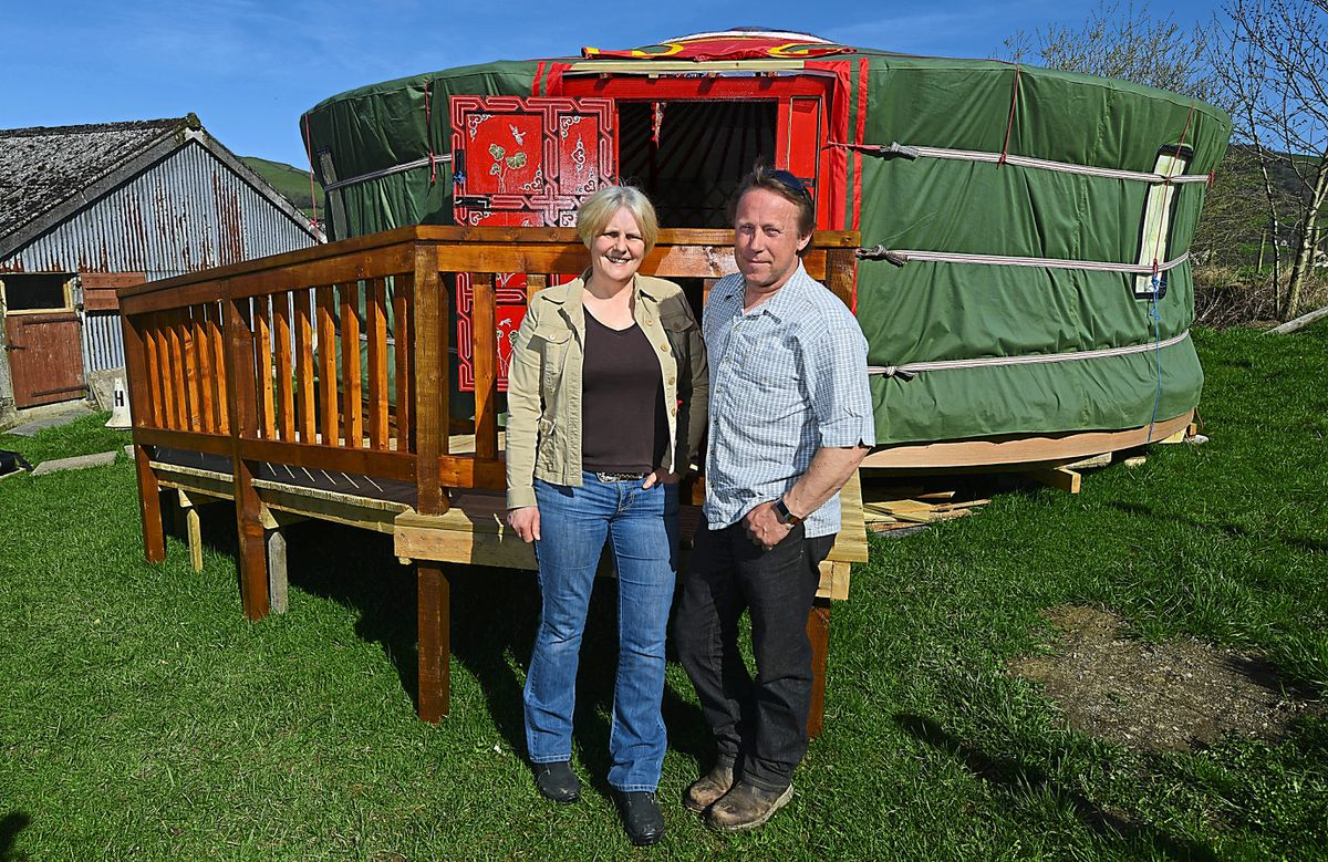 Katrina and Steve Boydon, from Barnutopia, near Oswestry, have been doing the care and maintenance work on site