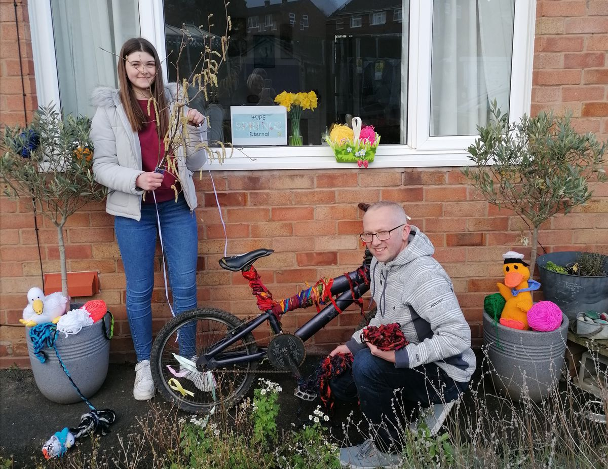 Wellington residents Daisy and Dave Taylor with their Hope Springs Eternal efforts. Dave runs Saturday Cycles in Wellington market while wife Adrienne runs The Daberhashery in the town.