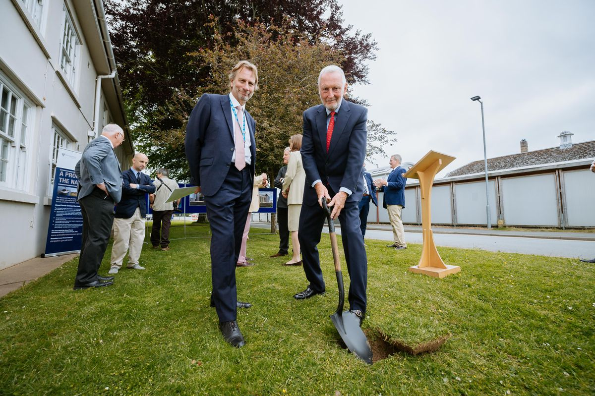 Turf cutting ceremony at the Robert Jones and Agnes Hunt Hospital