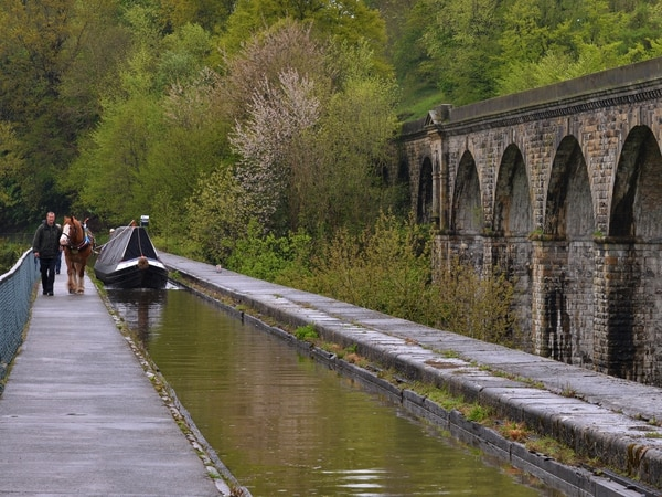 Seeing the Llangollen canal in a different light