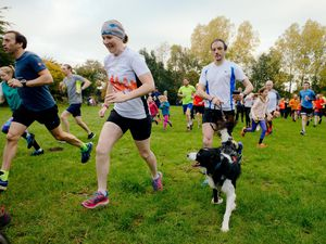BORDER COPYRIGHT SHROPSHIRE STAR JAMIE RICKETTS 20/10/2018 - New Oswestry Park Run at Whole Life Centre taking place in Henley Woods.
