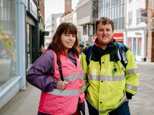Friends Melissa Beddow and William Ashlin from Shrewsbury