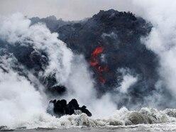 Woman suffers leg injury as volcano lava hits Hawaii boat