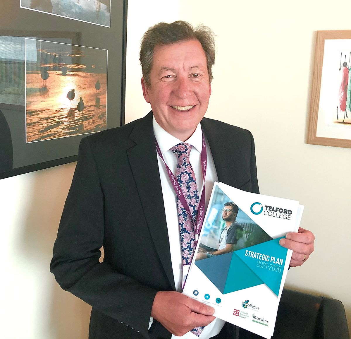 Telford College principall Graham Guest with the new strategic plan