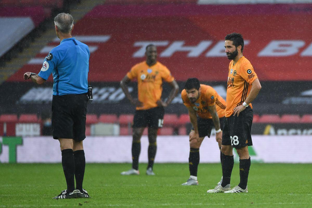 A dejected Joao Moutinho of Wolverhampton Wanderers (AMA)