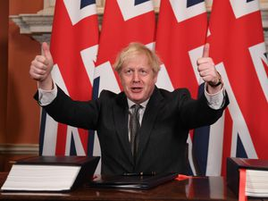 Prime Minister Boris Johnson after signing the EU-UK Trade and Cooperation Agreement at 10 Downing Street