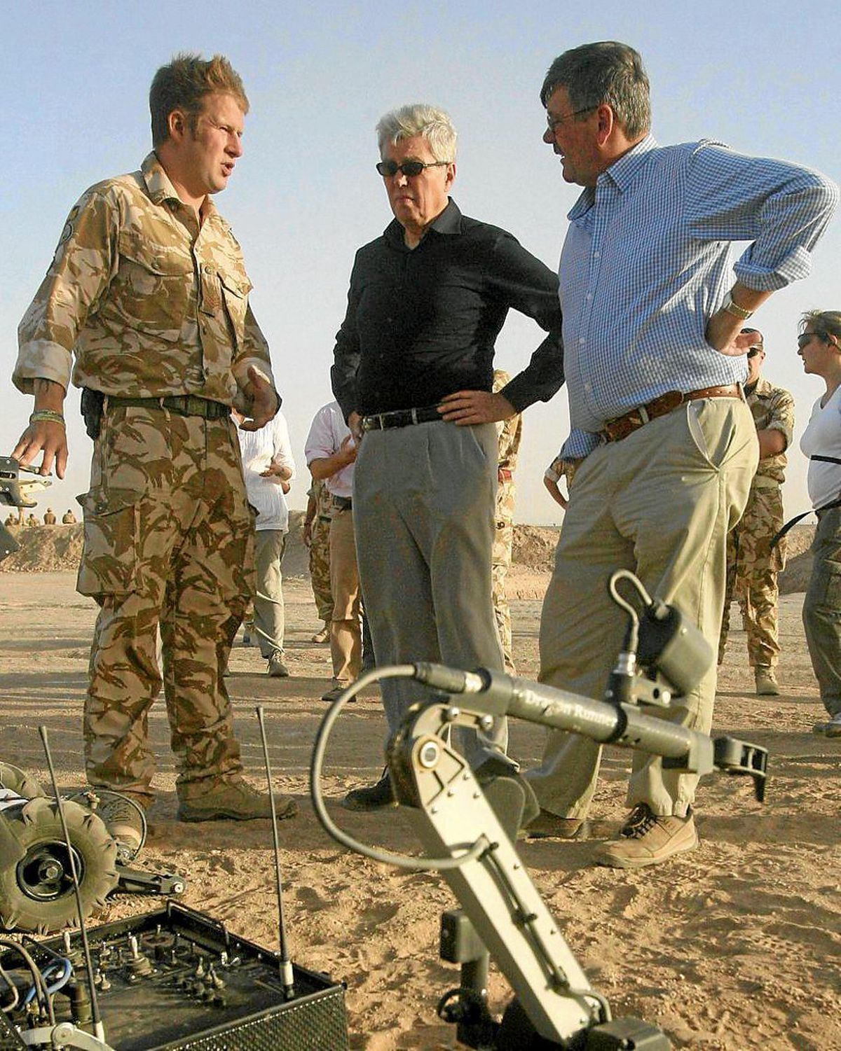 Meeting then ministers Bob Ainsworth and Alan Johnson at Camp Bastion