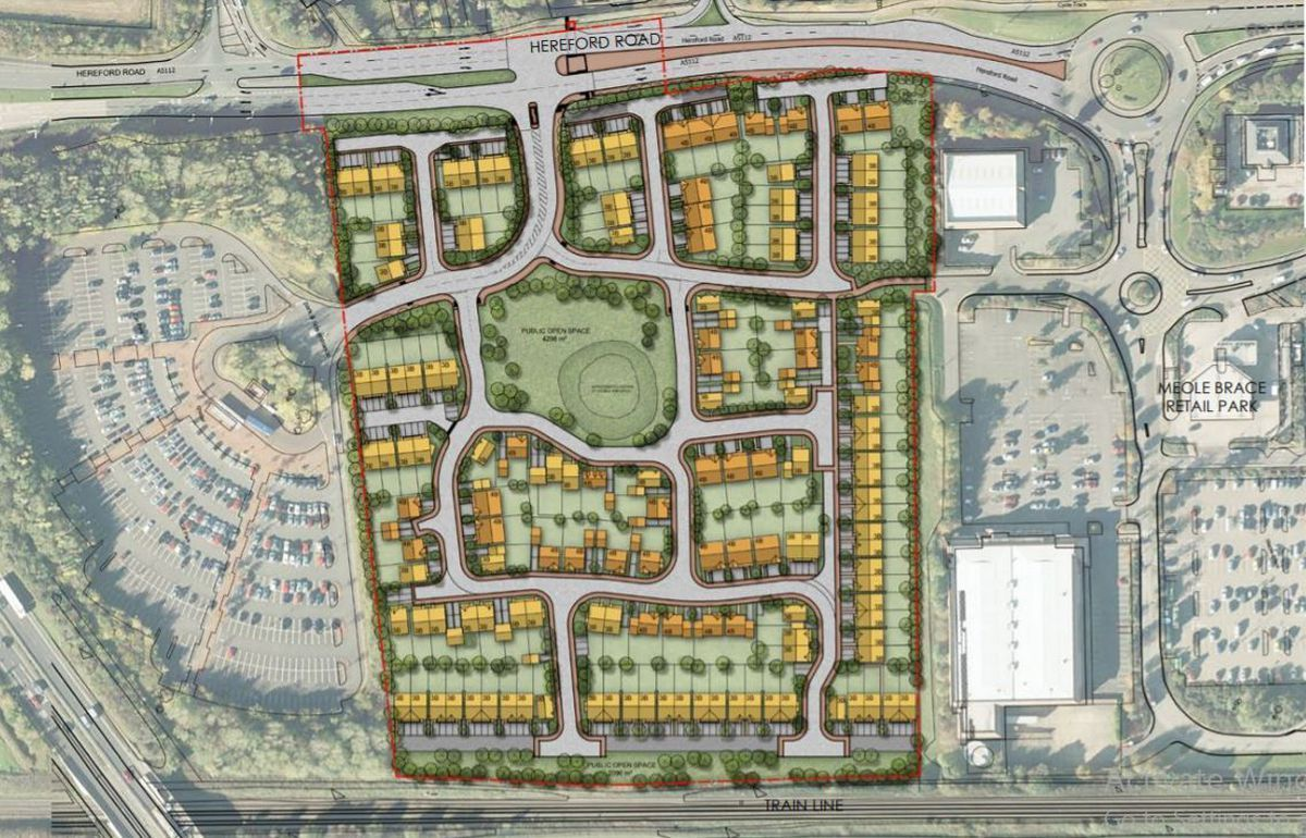 A map of how the site could look if it is approved by the planning inspector