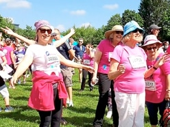 Race for Life turns Telford park pink