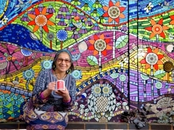 'I feel inspired by it': Bearwood artist creates magic with mosaics