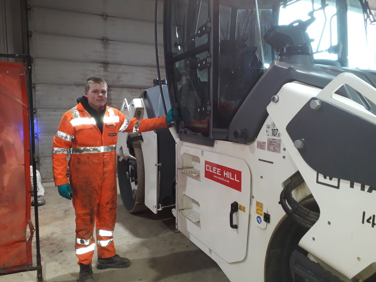 George Middleton is a second-year apprentice at Clee Hill Plant Limited