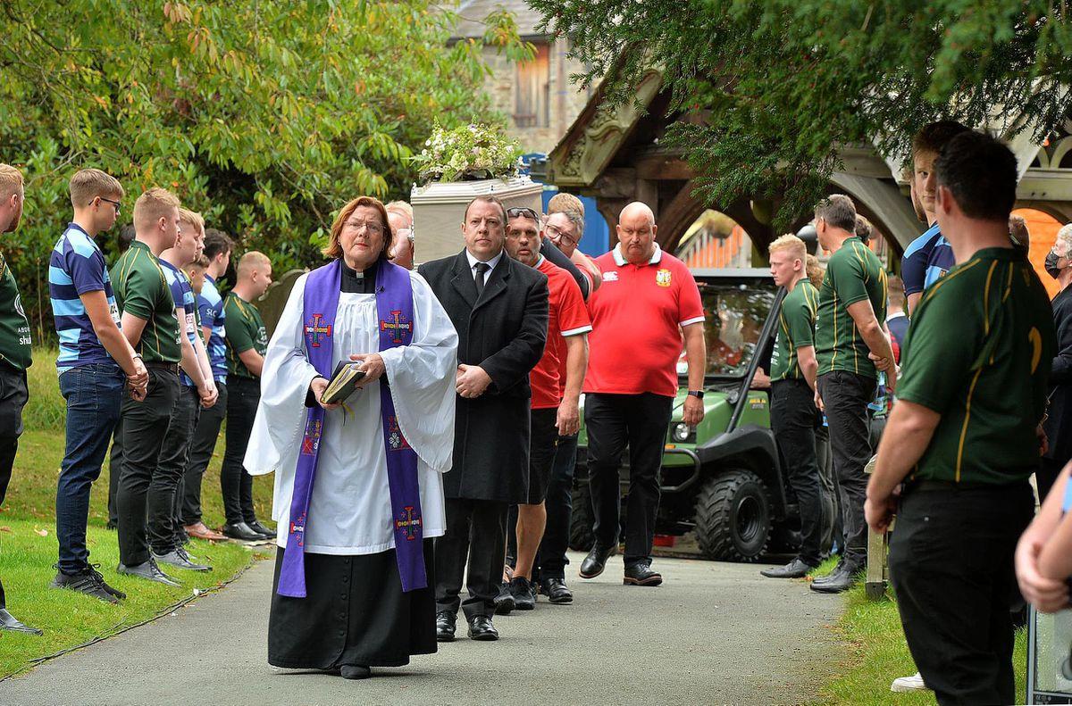 The cortege arrives at St John the Baptist Church