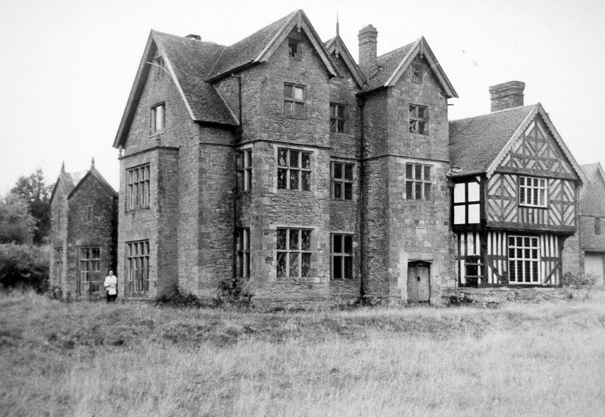 Larden Hall, which stood between Easthope and Shipton, pictured shortly before demolition