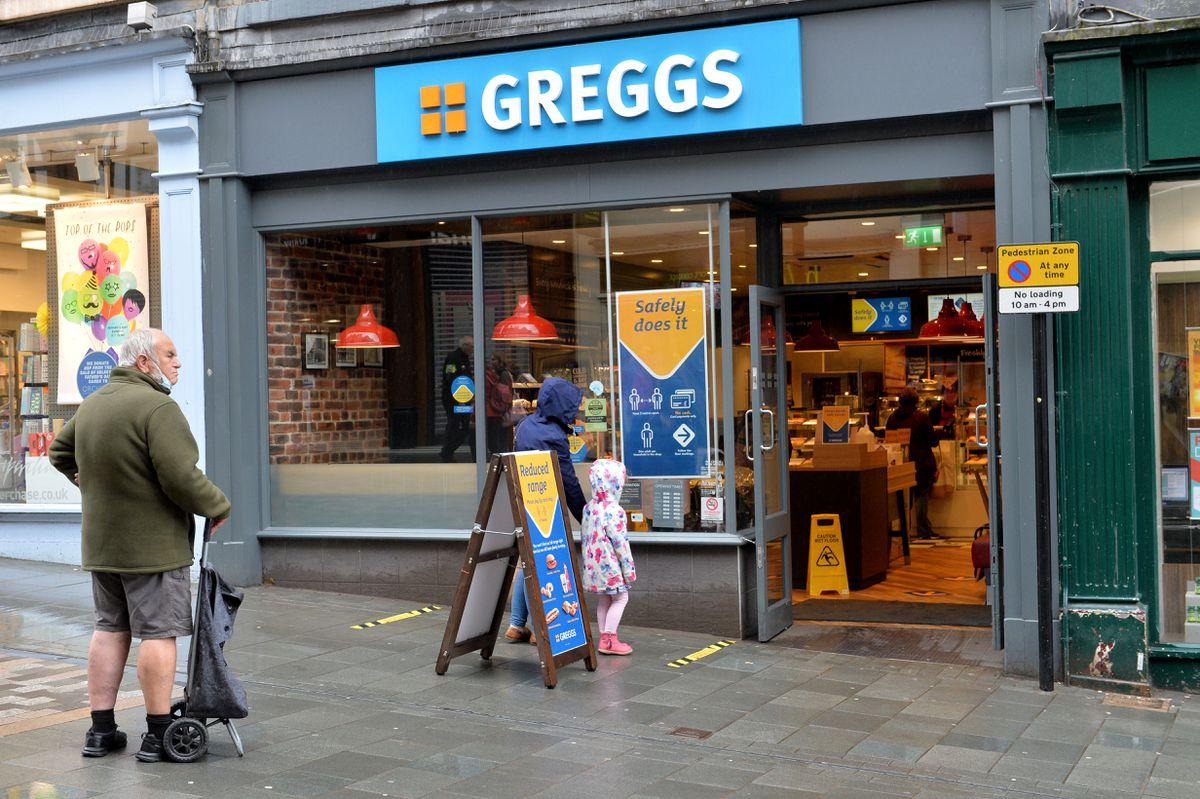 Greggs in Pride Hill, Shrewsbury