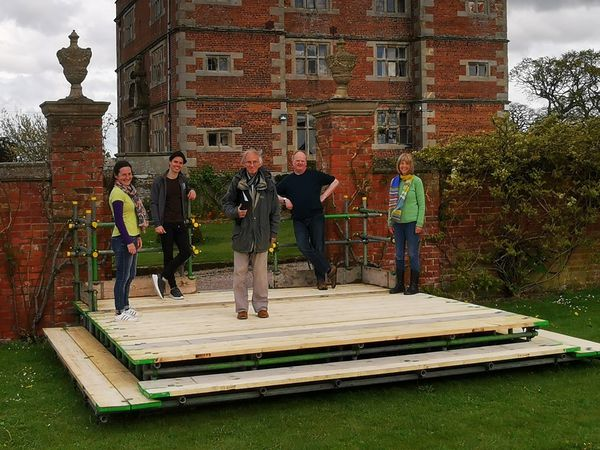 The cast of Relatively Speaking at Soulton Hall have been preparing for their shows next week
