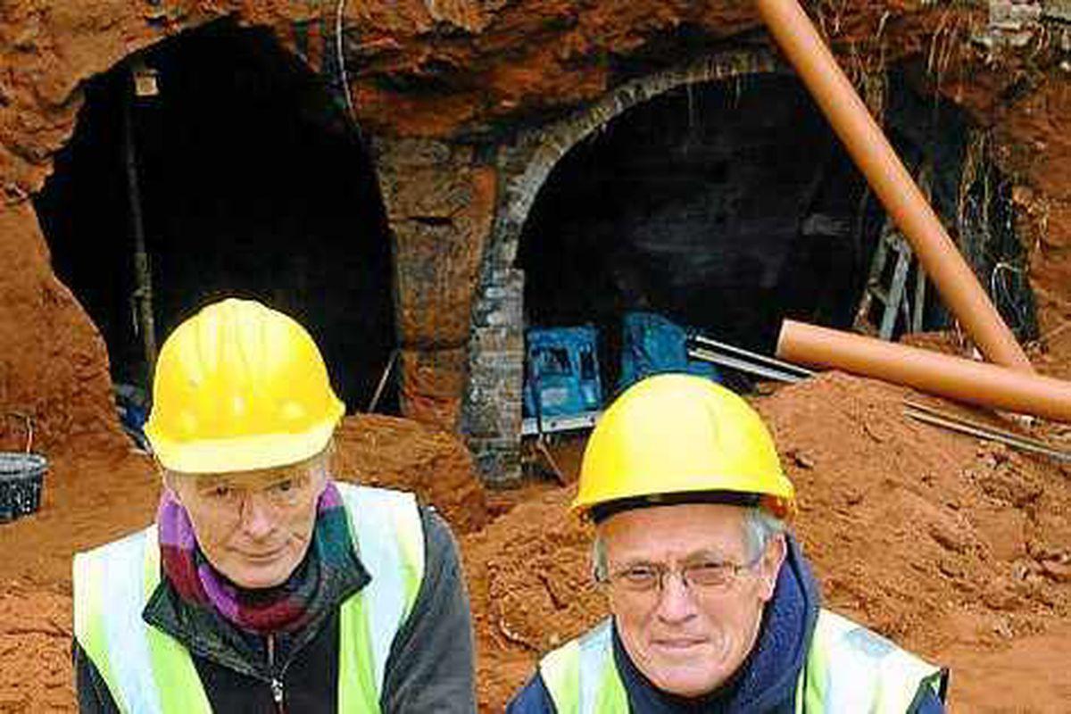 Builders unearth secret Bridgnorth cave