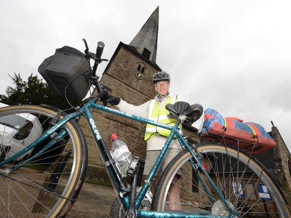 Chris, 75, takes on 300-mile bike ride for church funds
