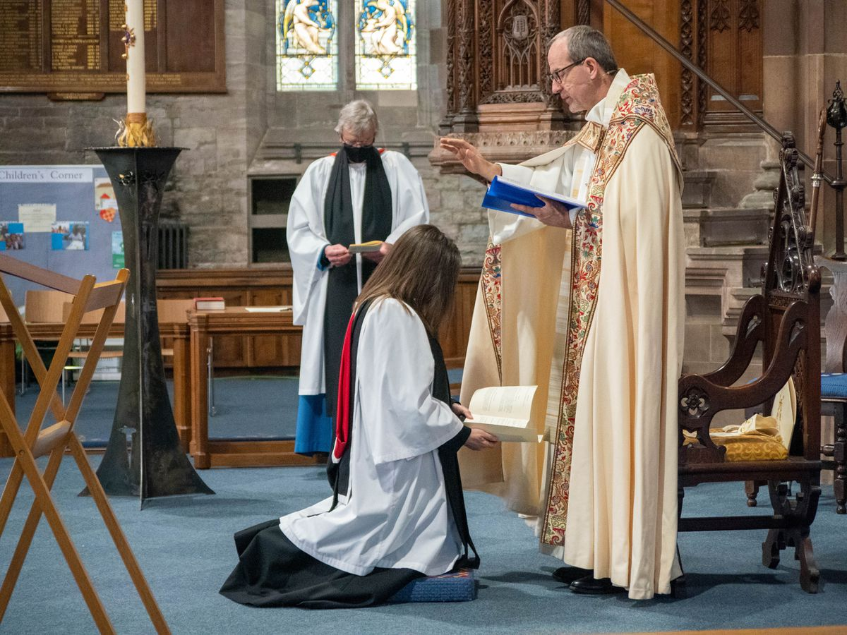 Revd Fiona Gibson being installed as the Archdeacon of Ludlow