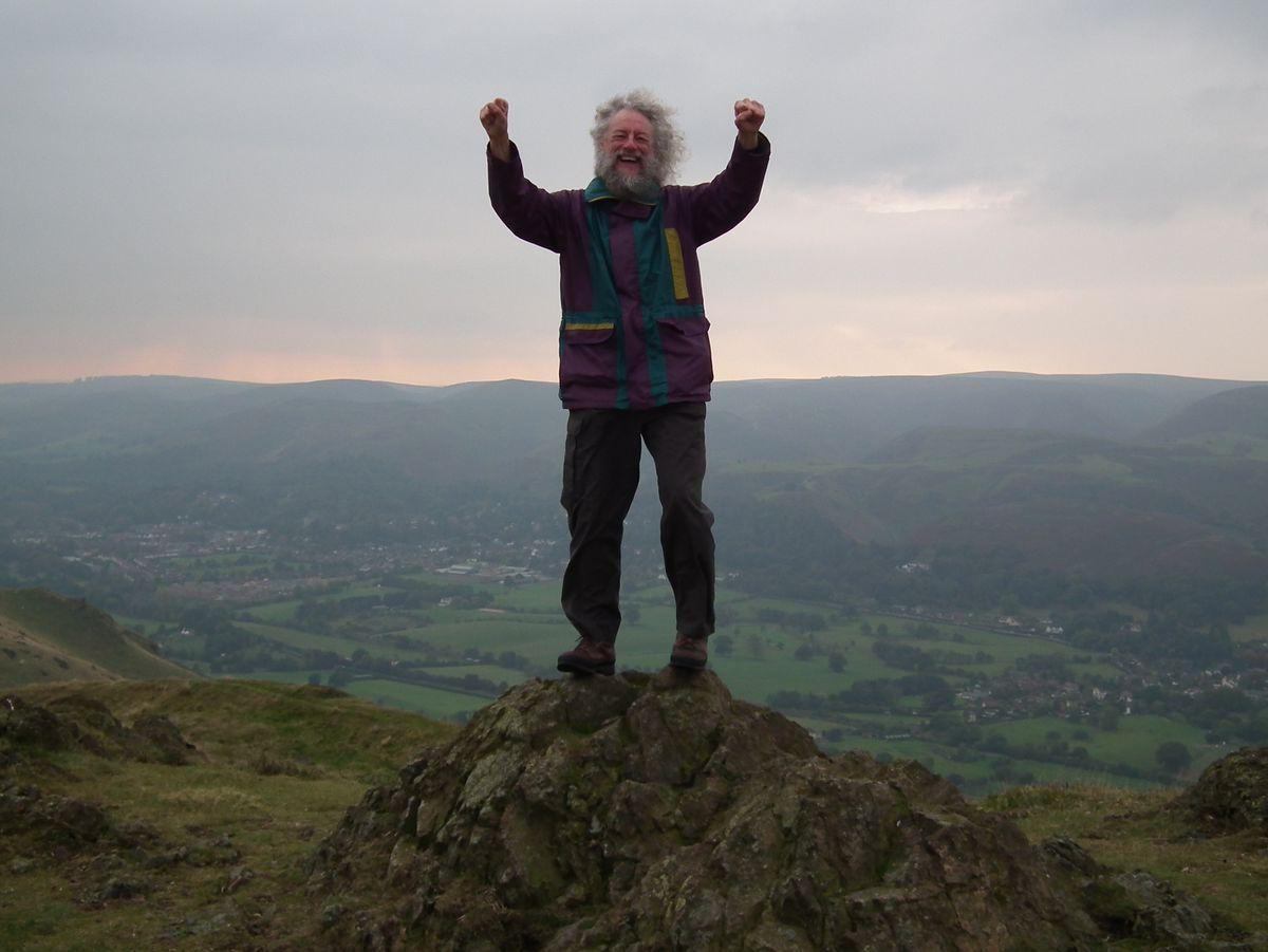 Jeff Kent on the summit of Caer Caradoc