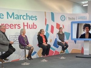The panel at the launch of the Marches Careers Hub