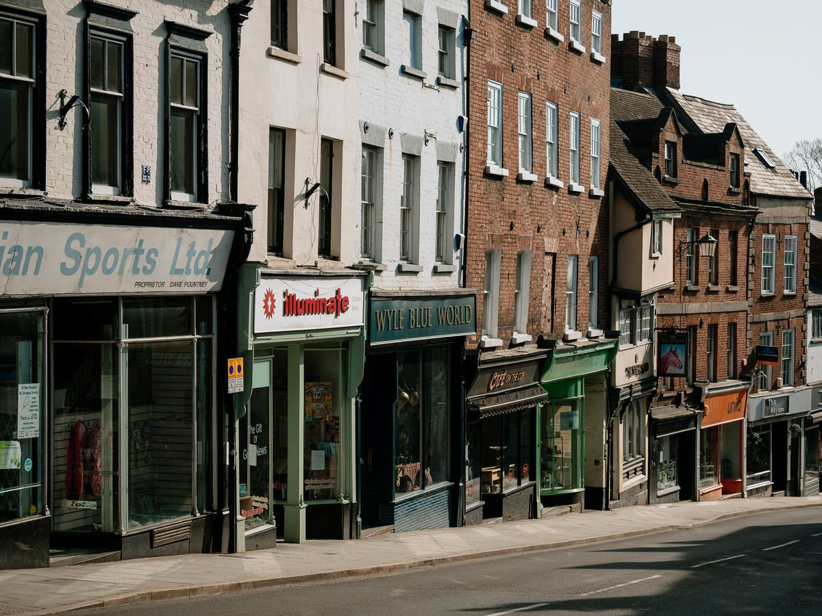 Shrewsbury's Wyle Cop, closed for business. Or is it?