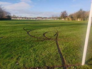 The damage at Shuker Field. Photo: Newport Safer Neighbourhood Team