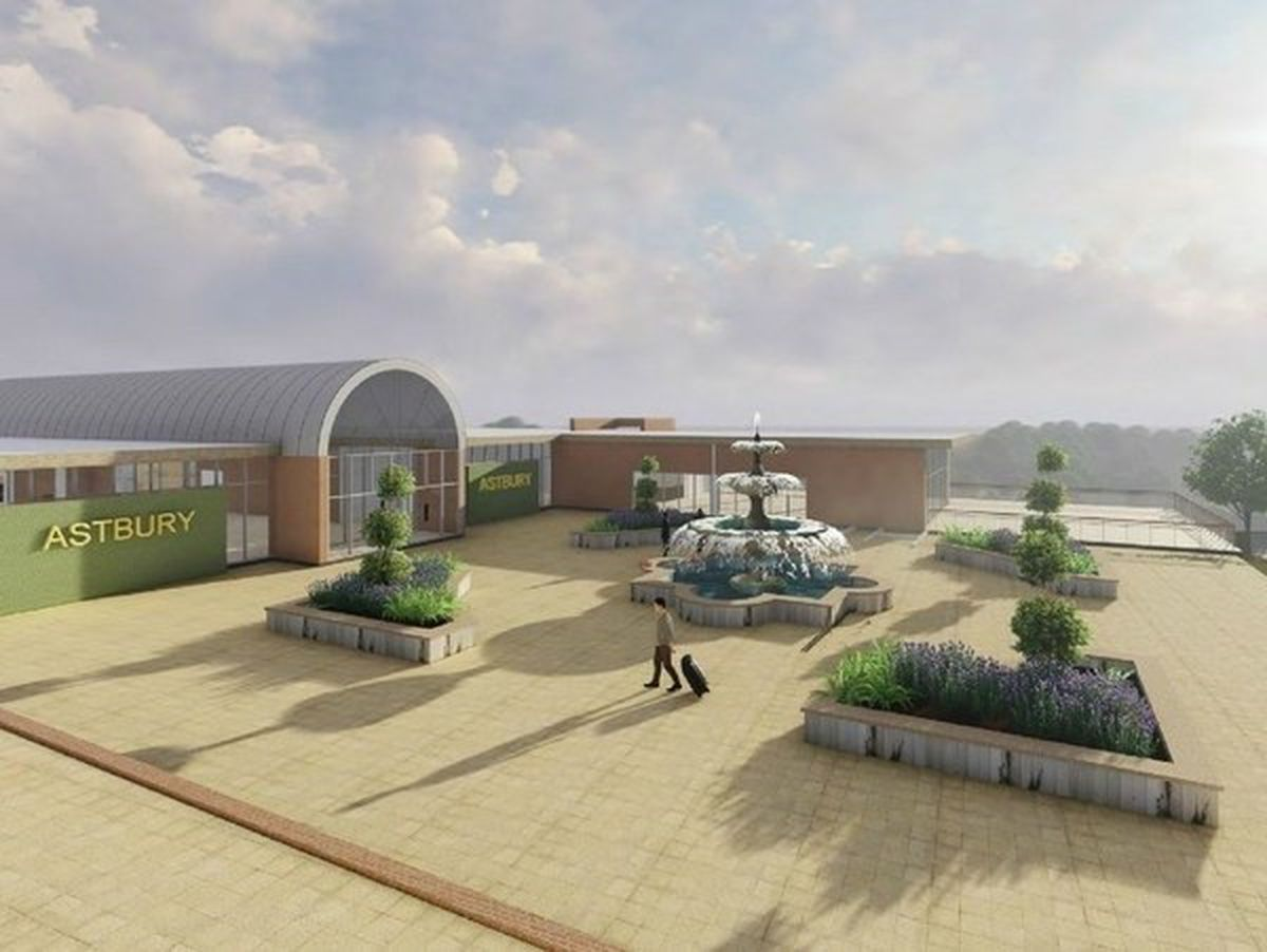 The planned main complex entrance at Astbury Hall