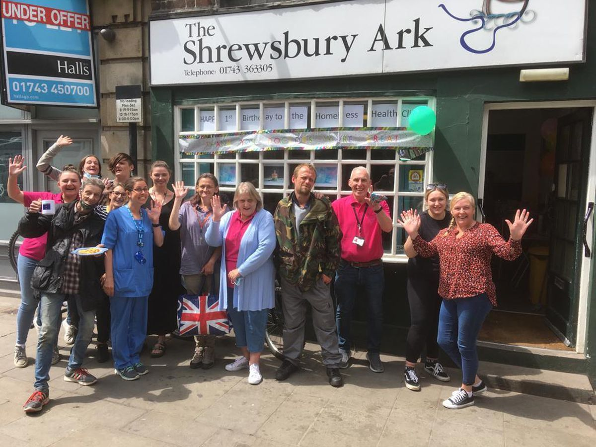 Staff, medics and service users celebrate a year of the Shrewsbury Ark healthcare clinic