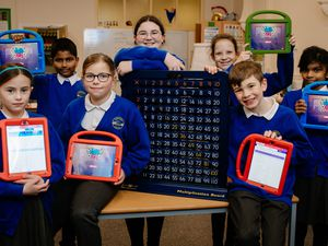 Gobowen Primary School are currently the top of the regional leader board on the Times Tables Rock Stars app