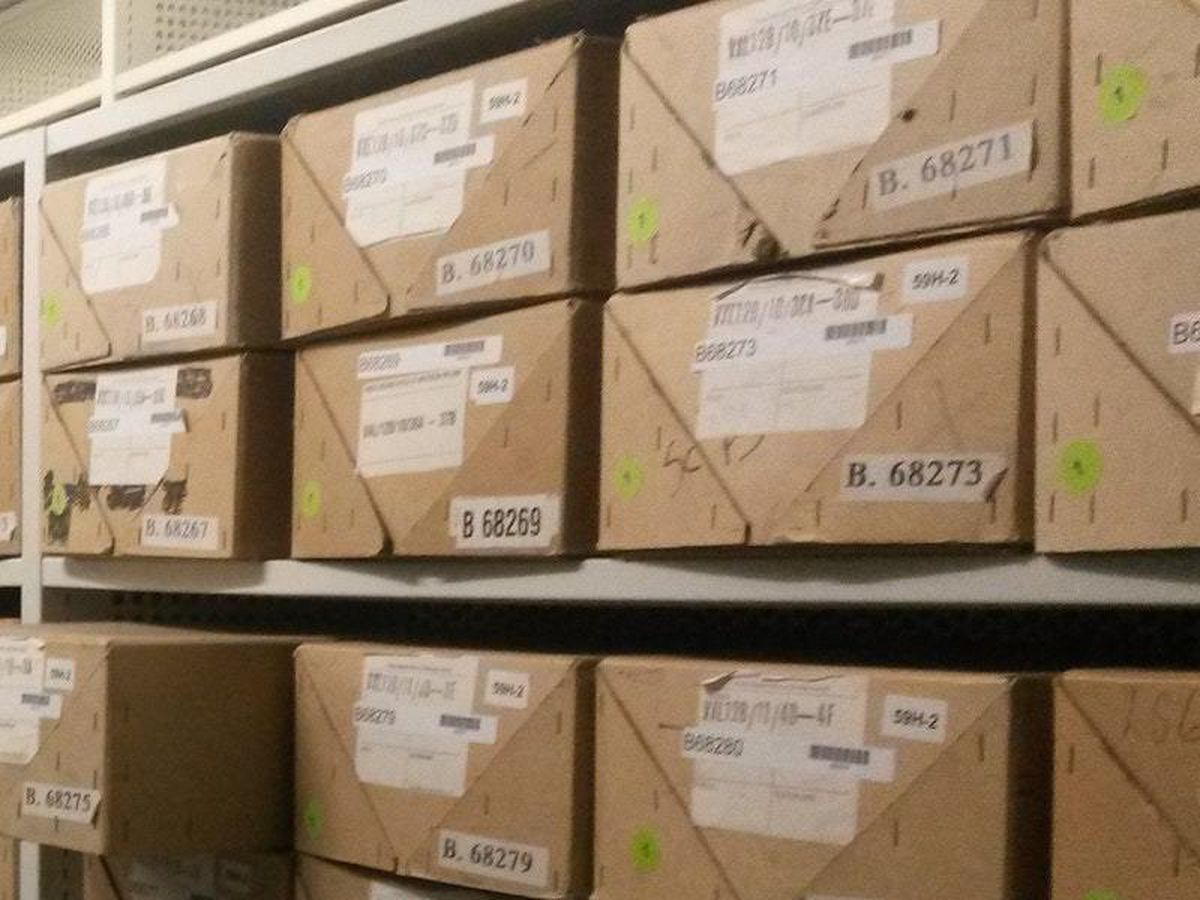 Boxes of files