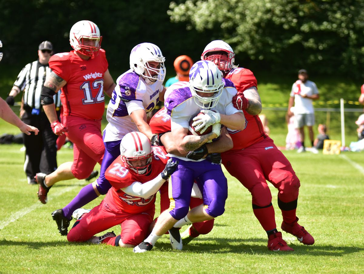 Action from Shropshire Revolution's 44-0 victory against Staffordshire Surge on July 18, 2021 Pic: Ben Cuerden