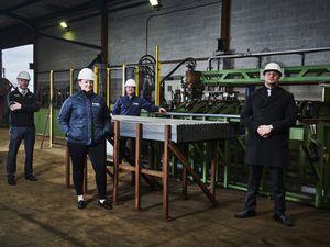 Paul Jones (Fastline Steel Services), Sophie Williams (Corbetts the Galvanizers), Simon Prest (both Corbetts the Galvanizers) and Mike Fellows (Fastline Steel Services)