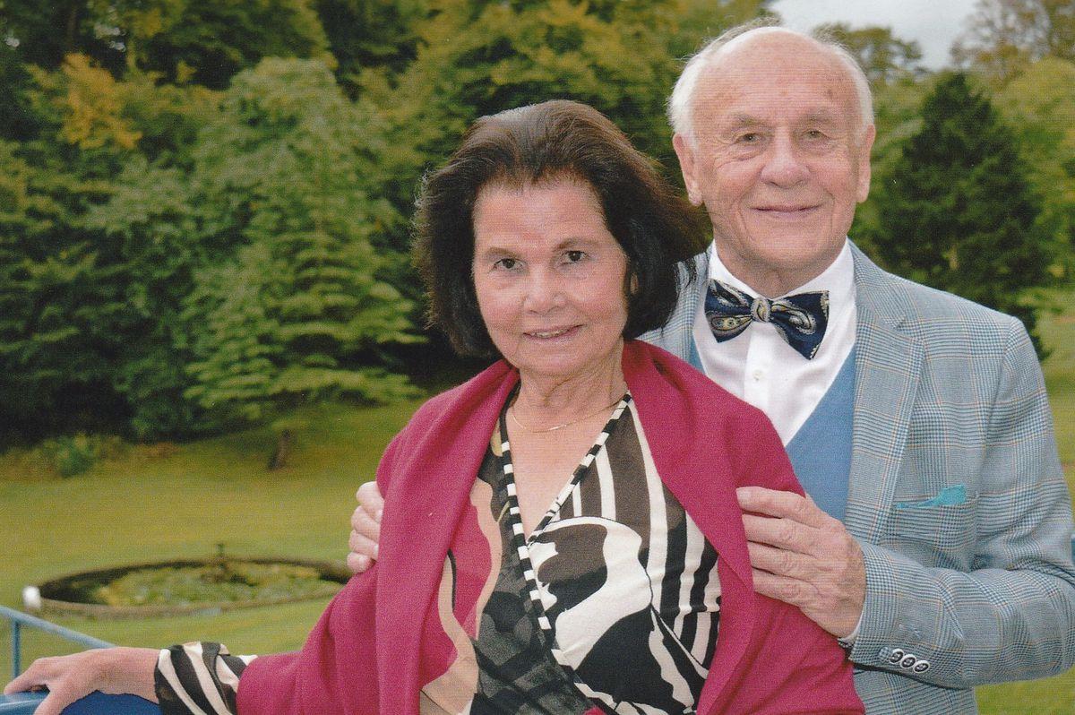 Mervyn and Maria on their diamond wedding anniversary in 2016.
