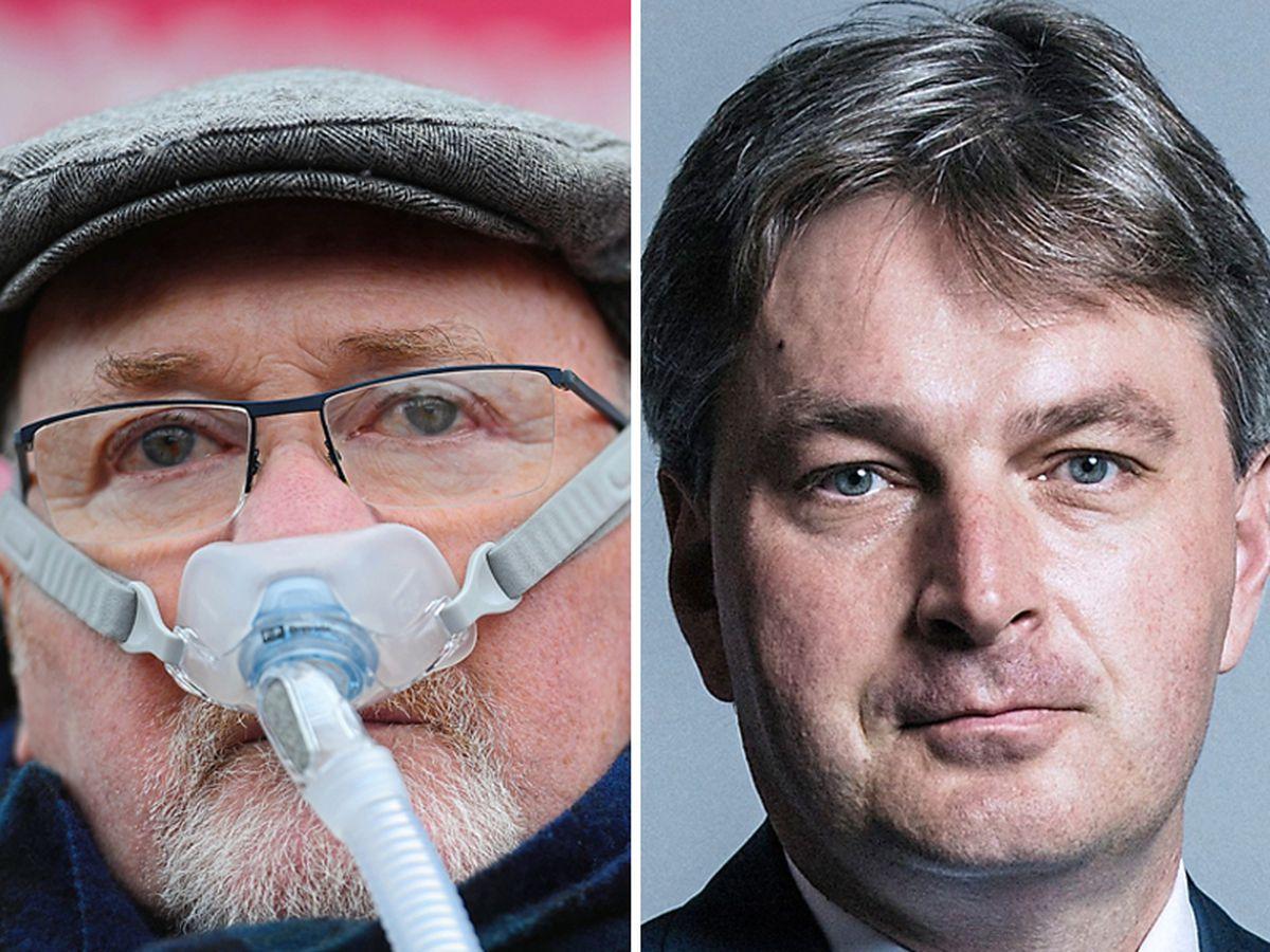 Noel Conway, left, and Shrewsbury and Atcham MP Daniel Kawczynski