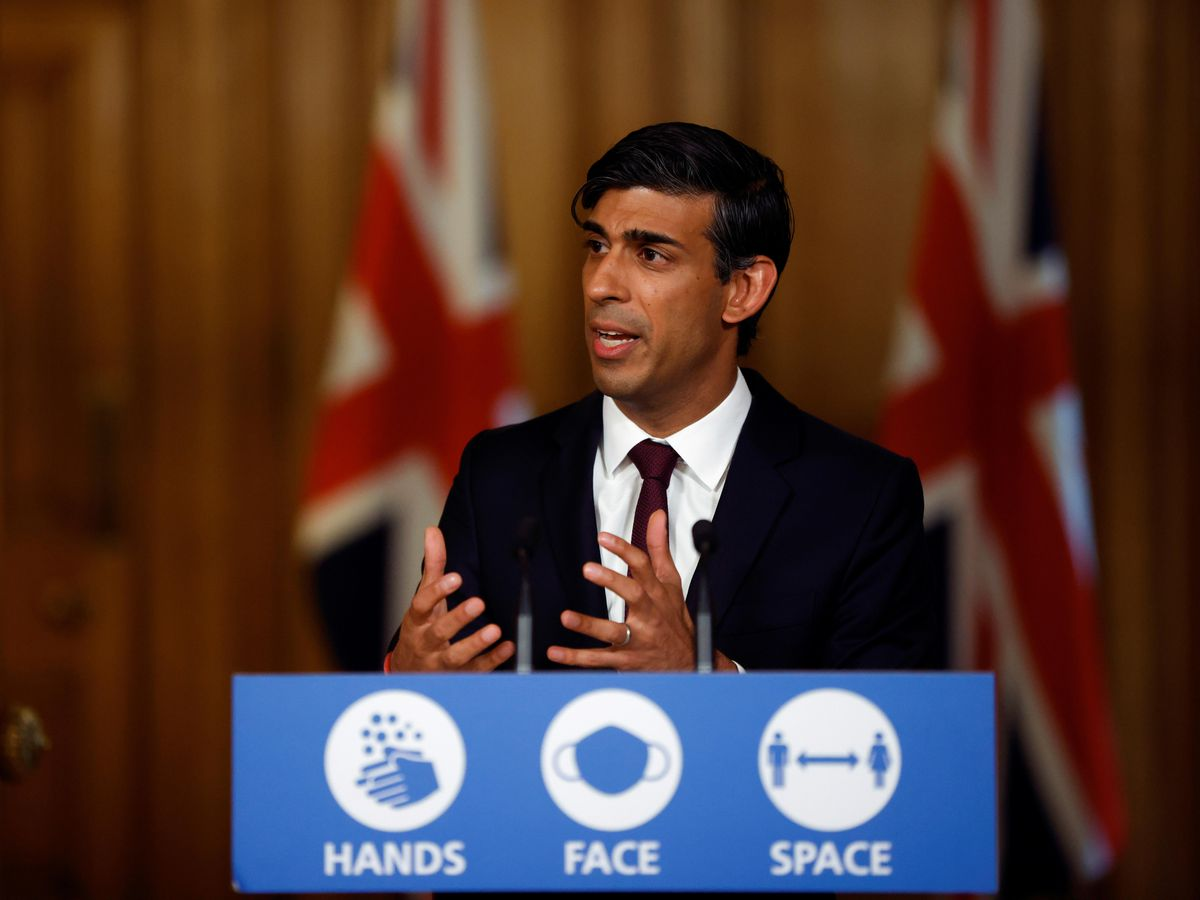 Chancellor of the Exchequer Rishi Sunak after he presented his winter economy plan to MPs in the House of Commons
