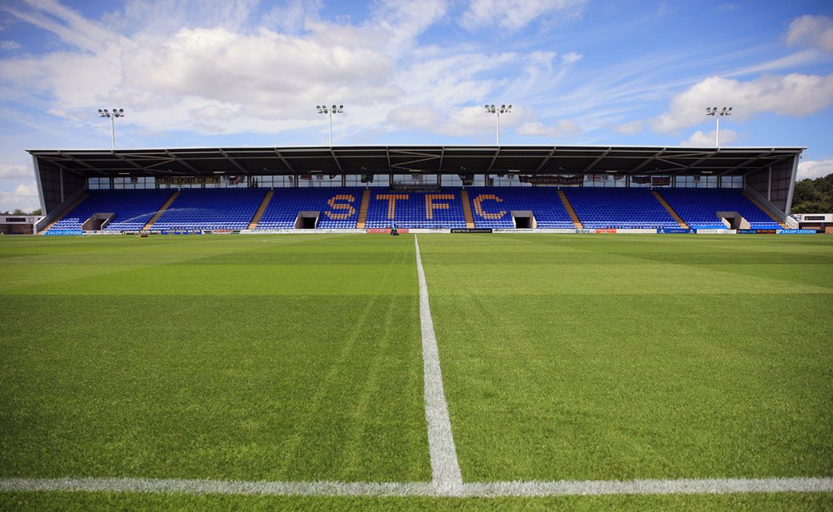 Shrewsbury Town's Montgomery Waters Meadow home. Town have been out of action since December 29 (AMA)