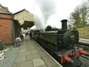 SHROPSHIRE STAR ( JOHN SAMBROOKS ) 11/02/2018..The Mothers Day special train about to leave on the Llangollen Railway Station, Abbey Rd, Llangollen......  .............................