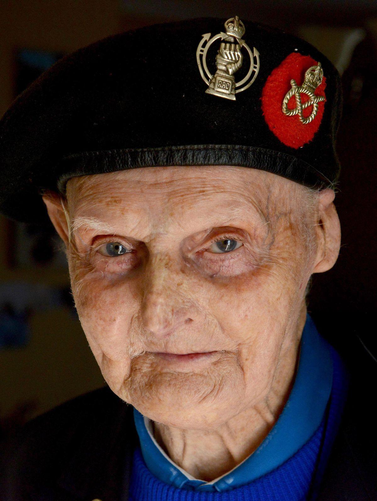 Les Cherrington in his Staffordshire Yeomanry beret