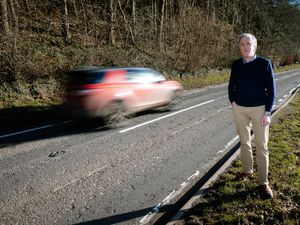 Councillor Christian Lea is calling for a busy stretch of road to be resurfaced