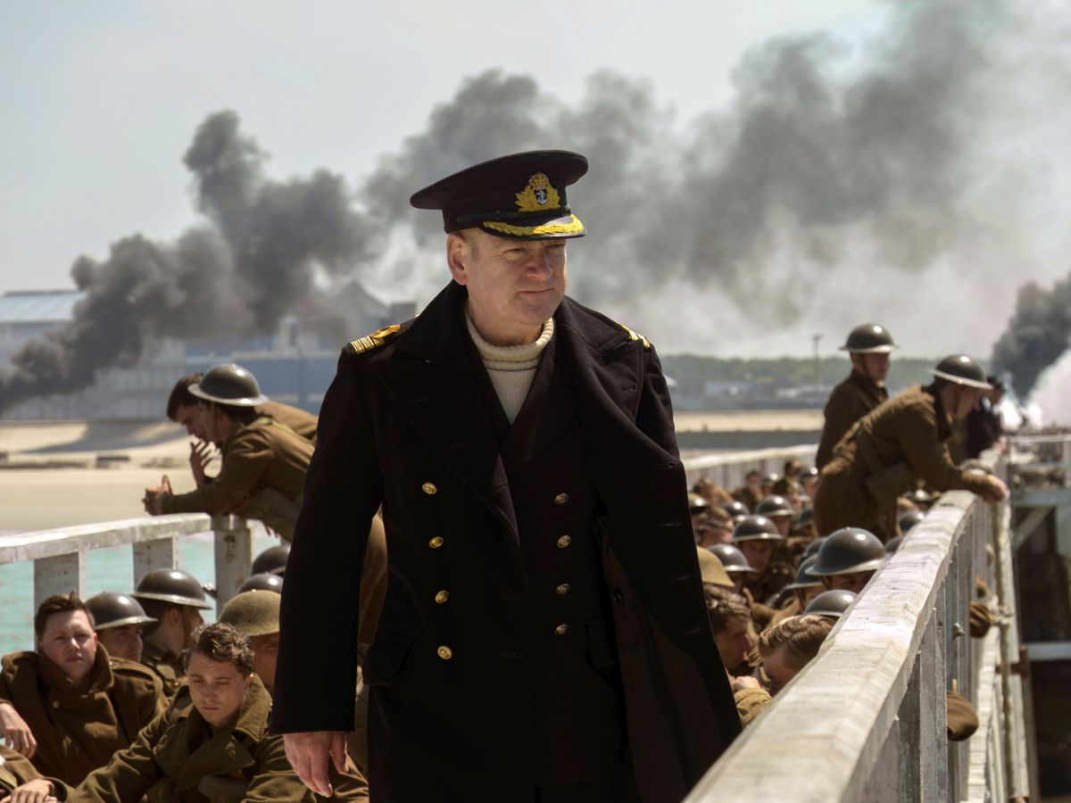 "This image released by Warner Bros. Pictures shows Kenneth Branagh in a scene from ""Dunkirk."" (Melissa Sue Gordon/Warner Bros. Pictures via AP)."