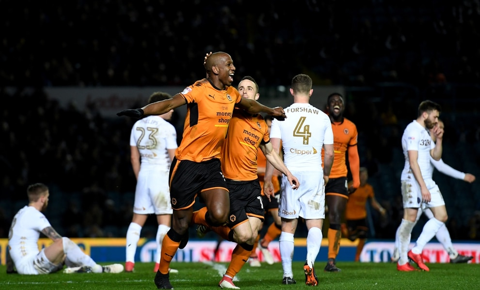 Nuno celebrates at full time    Willy Boly of Wolverhampton Wanderers celebrates after scoring a goal to make it 0-2    Nuno