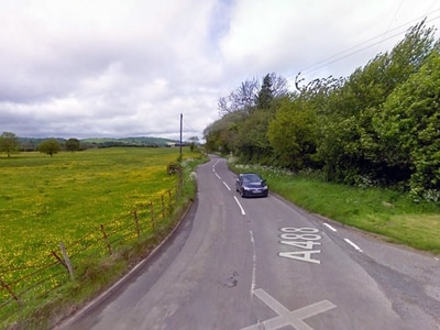 Man died when he crashed his car while over the drink-drive limit near Clun