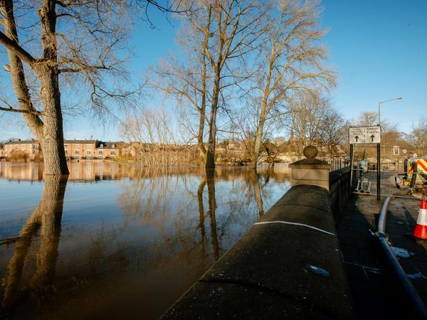 SHREWS COPYRIGHT SHROPSHIRE STAR JAMIE RICKETTS 22/01/2021 - Flooding - Coleham, Shrewsbury.