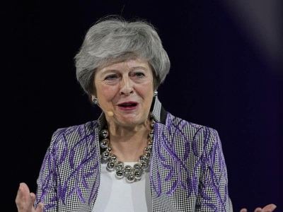 Theresa May recounts 'sticky tape' moment during flight